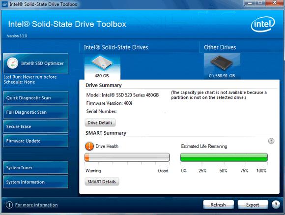 โปรแกรม Intel SSD Toolbox ใช้จัดการฮาร์ดดิสก์ ปรับแต่ง ดูข้อมูลของ HDD