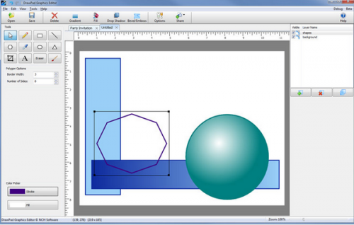 DrawPad Graphics Editor